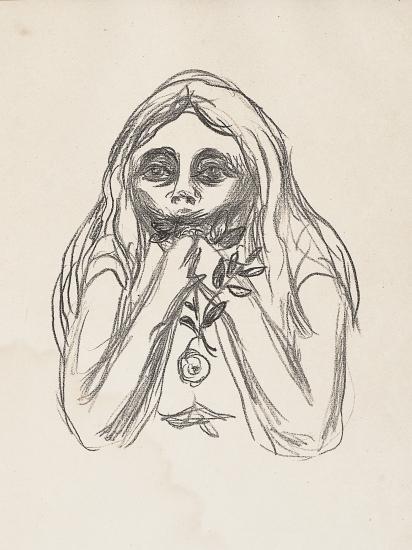 Edvard Munch-Omegas Oyne / Omega's Eyes-1909