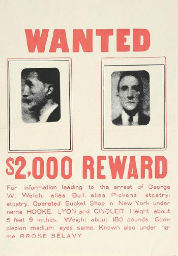Marcel Duchamp-Wanted $2000 reward-1923