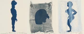 Marlene Dumas-(i) The Black Man; (ii) The Jew; (iii) The Girl-1993