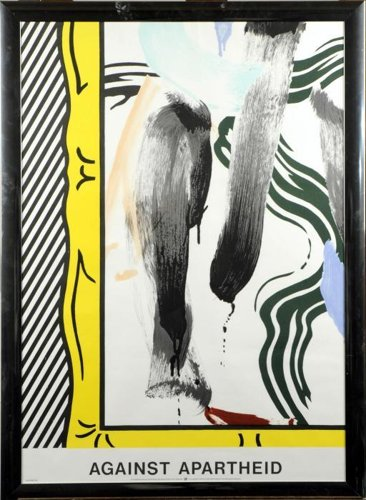 Roy Lichtenstein-Against Apartheid-