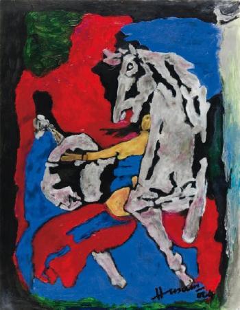 Maqbool Fida Husain-Cavaliere-2004