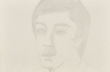 Alex Katz-Vincent with Open Mouth-1974