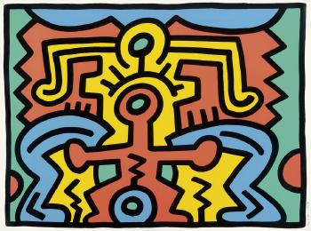 Keith Haring - Growing: Plate No 5-1988