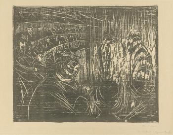 Edvard Munch-In Cirkus (Im Cirkus)-1930