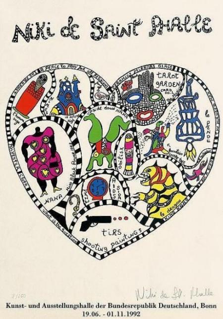 Niki de Saint Phalle-Ausstellungsplakat (Herz)-1992