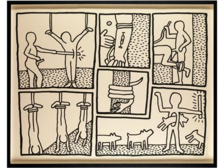 Keith Haring - Blueprint Drawing-1990
