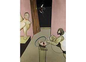 Francis Bacon-Oedipus and the Sphinx-1984
