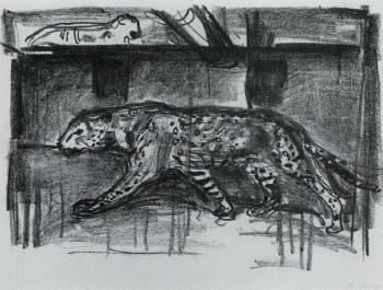 Edvard Munch-Panther im Kafig / Panther in Cage-1920