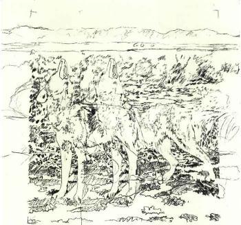 Gerhard Richter-Hyanen (Hyenas)-1968