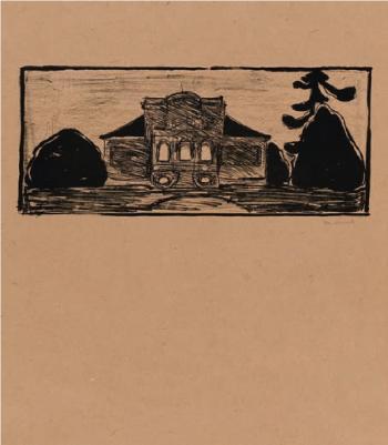 Edvard Munch-Gartenfront des Hauses Dr. Max Linde-1902