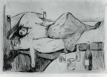Edvard Munch-Dagen Derpa / The Day After / The Day After the Day Before / Der Tag Danash (Woll 10; Schiefler 15)-1894