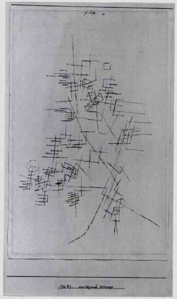 Paul Klee-Ansteigende Ortswege (Rising Pathways)-1930