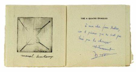 Marcel Duchamp-Tire a 4 epingles-1959