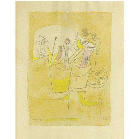 Paul Klee-Blumenstocke I (Potted Plants I)-1920