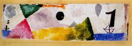 Paul Klee-Die Bezeichneten Schiffe (Ships)-1917