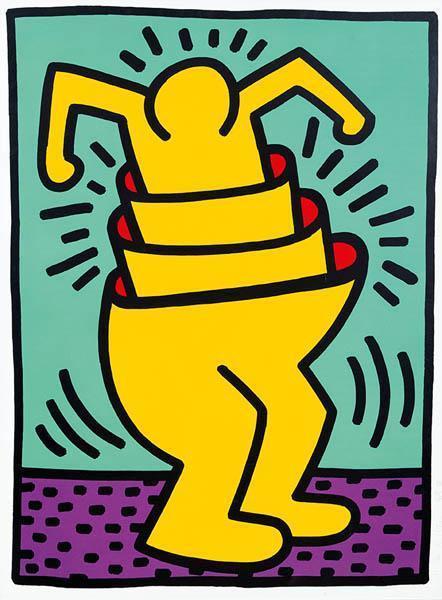 Keith Haring-Keith Haring - Cup Man-1989