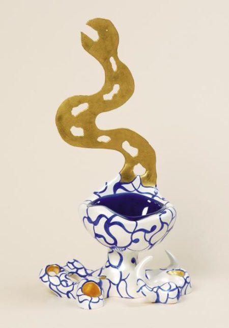 Niki de Saint Phalle-Ohne Titel, ( Figure), (Vase-serpent)-1989