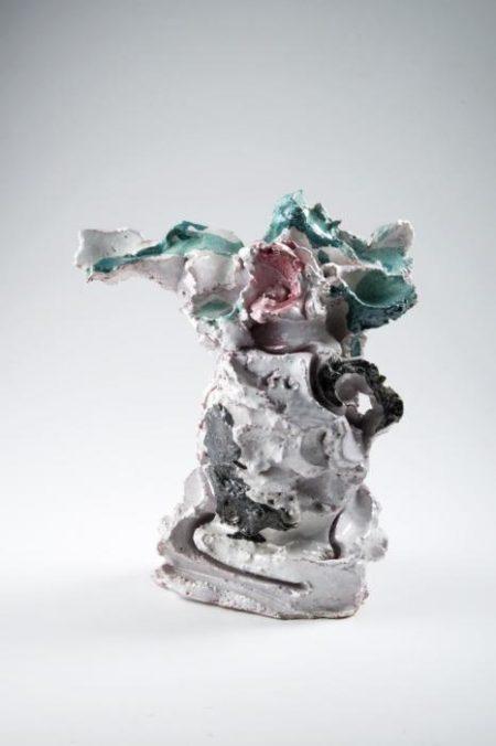 Lucio Fontana-Vaso con fiore-1953