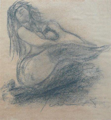 Lucio Fontana-Weiblicher Akt-1964