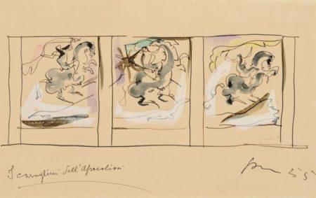 Lucio Fontana-I Cavalieri dellApocalisse-1955