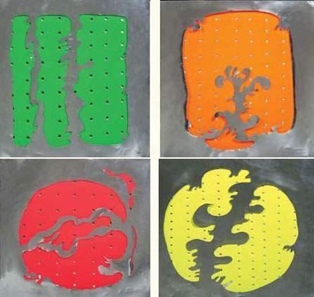 Lucio Fontana-Concetto Spaziale - Quattro oggetti di Lucio Fontana e due po-