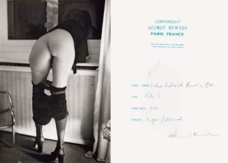 Helmut Newton-Dans Mon Appartement, 4 Rue Aubriot (1971)-1971