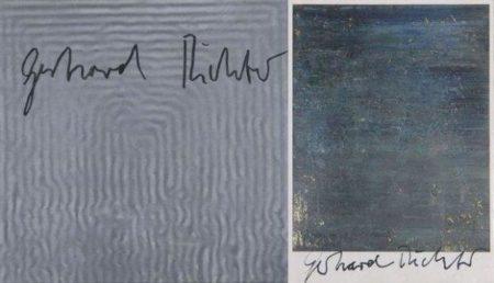 Gerhard Richter-Dedicaces (Ensemble De Deux Offsets En Couleurs Signes)-