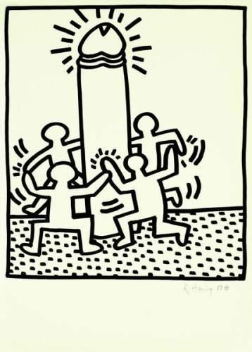 Keith Haring-Keith Haring - Dance-1983