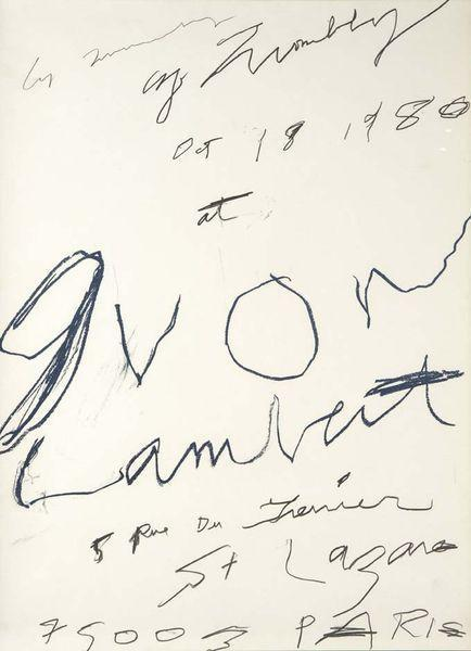 Cy Twombly-Cy Twombly at Yvon Lambert-1980