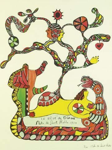 Niki de Saint Phalle-Le Reve de Diane-1970
