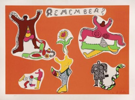 Niki de Saint Phalle-Remember, ( Remember - Love making), (Nana Power V)-1970