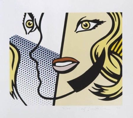 Roy Lichtenstein-Untitled Head (Cal Arts Print)-1995