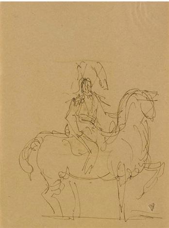 Lucio Fontana-Studio per monumento equestre-