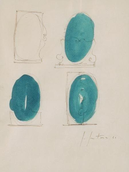 Lucio Fontana-Astratto-1961