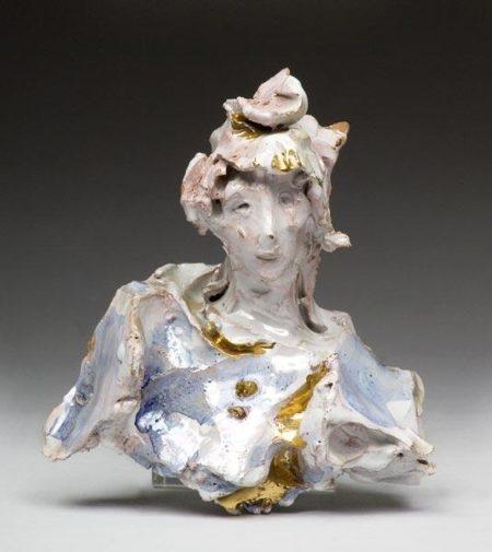Lucio Fontana-Busto di donna-1950