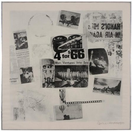 Robert Rauschenberg - Features from Currents # 59-1970