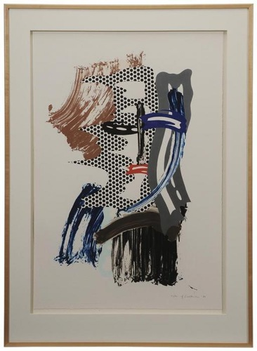 Roy Lichtenstein-Mask (from Brushstroke Figures series-1989
