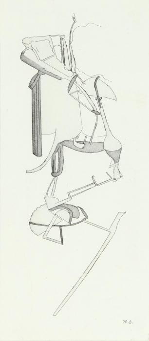 Marcel Duchamp-La Sposa (Particolare del grande vetro)-1965