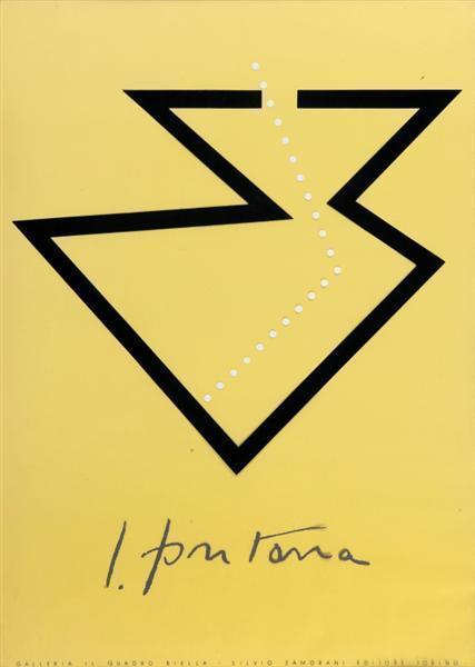 Lucio Fontana-Mostra alla galleria Il Quadro, Biella-