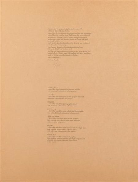 Cy Twombly-Six latin writers and poets-1976