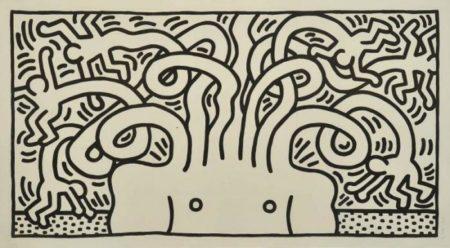 Keith Haring-Keith Haring - Medusa head-1986