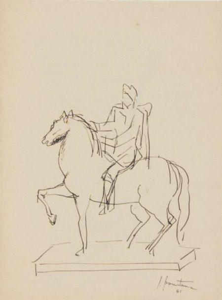 Lucio Fontana-Senza titolo (Statua equestre)-1941