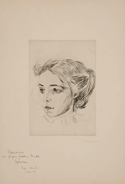 Edvard Munch-Sykepleiersken / The Nurse (Woll nr. 300)-1908