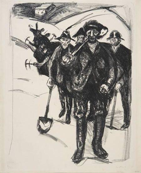 Edvard Munch-Arbeidere I Sno-1912