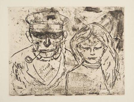 Edvard Munch-Alter Fischer und Fischermadchen (Fiskeren og Hans Datter)-1902