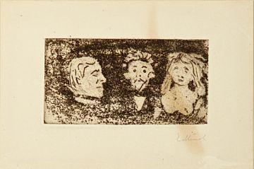 Edvard Munch-Vignett: Overraskelse / Vignette: Surprise-1902