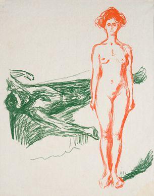 Edvard Munch-Marats Dod / The Death of Marat / Der Tod des Marat-1907