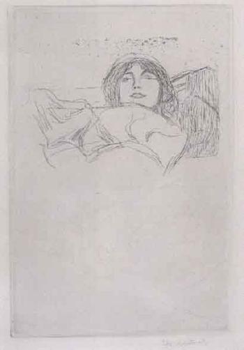 Edvard Munch-Ung Kvinne og Kunstnerens Portrett / Young Woman and Portrait of the Artist-1896