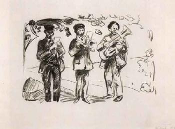 Edvard Munch-Gatemusikanter (Street Musicians)-1913
