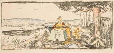 Edvard Munch-Alma Mater-1914